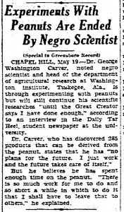 George Washington Carver, 1933